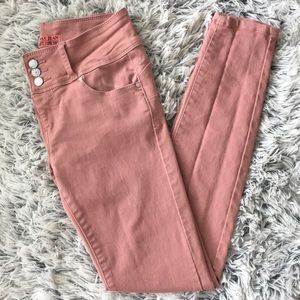 Wax Jean Butt, I Love You Mauve Skinny Jean NWOT